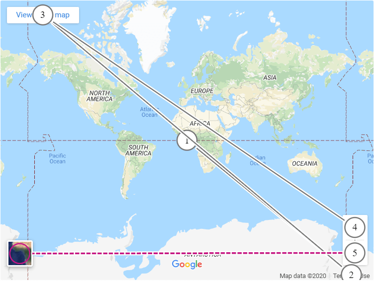Google Maps focus order diagram